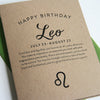 Leo Astrology Birthday Card