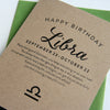 Libra Astrology Birthday Card