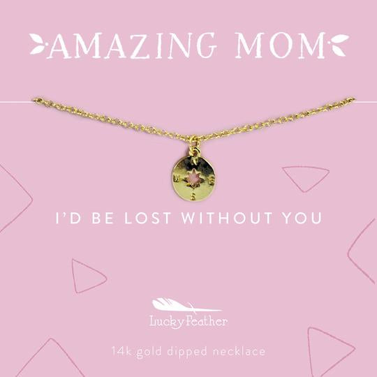 Amazing Mom: Mother's Day Necklace - Steel Petal Press