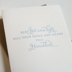 Love and Light Hanukkah Card