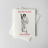 Letterpress Congrats and Encouragement card - MF Girl Power