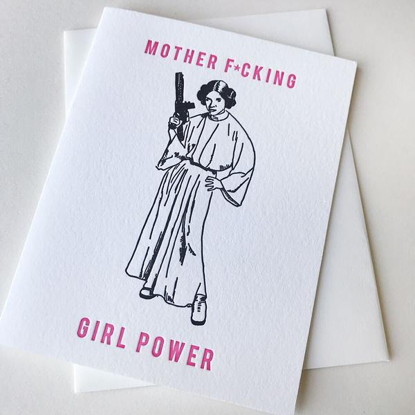 MF Girl Power Censored Card - Steel Petal Press
