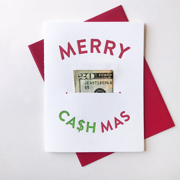 Merry CASHmas - Money Holder | Steel Petal Press