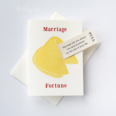 Fortune Marriage Wedding Annoy - Steel Petal Press