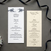 letterpress menus wedding stationery