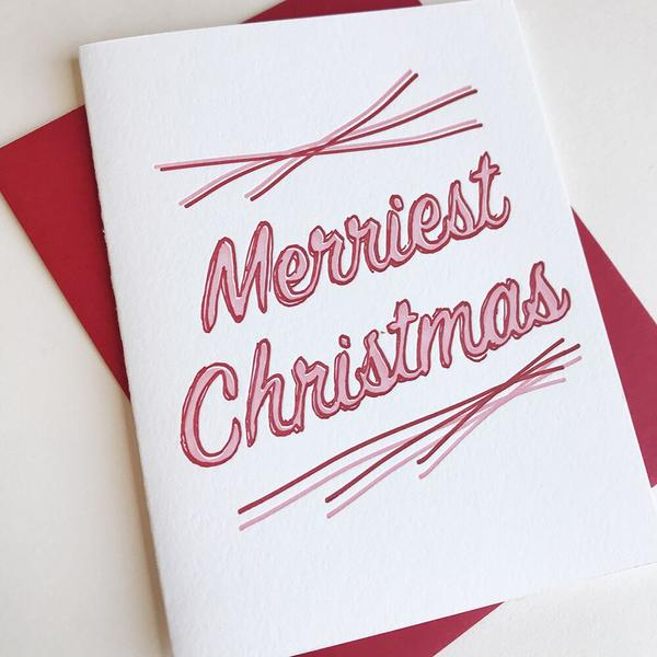 Merriest Christmas New Card - Steel Petal Press