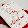Merry and Joyous letterpress Christmas card