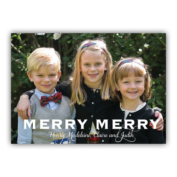 Merry Merry Photo Card | Steel Petal Press