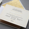 Gold Foil and Letterpress Wedding Invitation