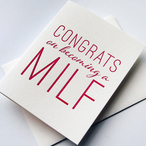 MILF card - Steel Petal Press