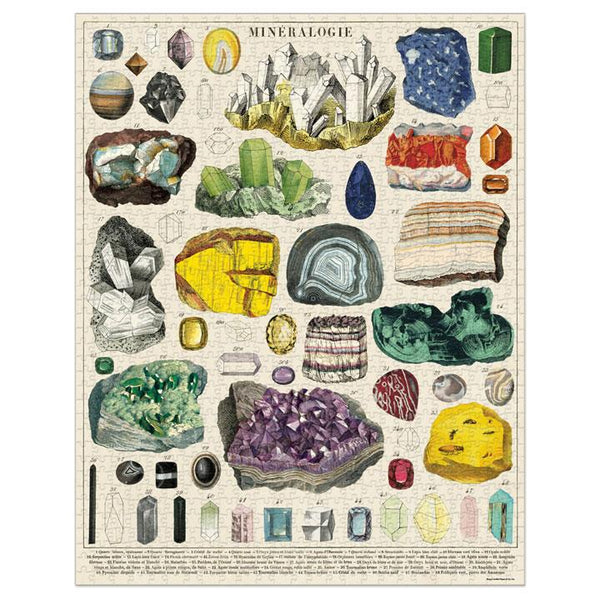 Mineralogy Vintage 1000 pc Jigsaw Puzzle - Steel Petal Press