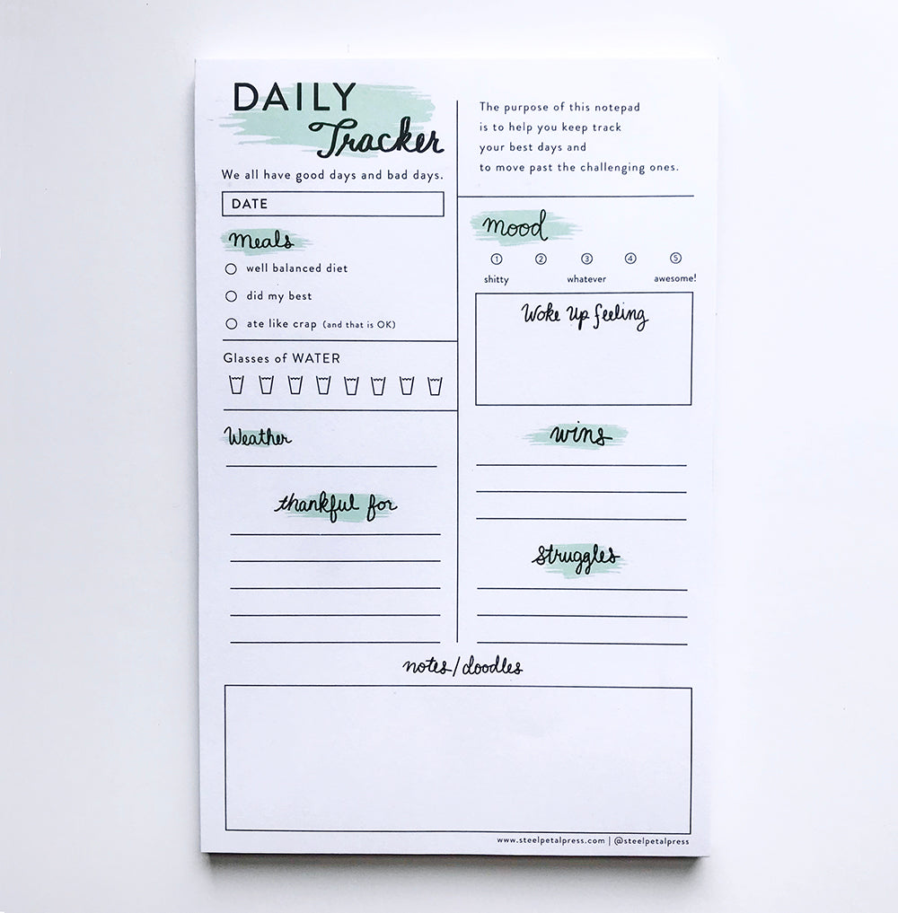 Mint Daily Tracker - Steel Petal Press
