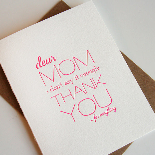 Mom Thanks | Steel Petal Press
