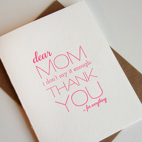 Mom Thanks - Steel Petal Press