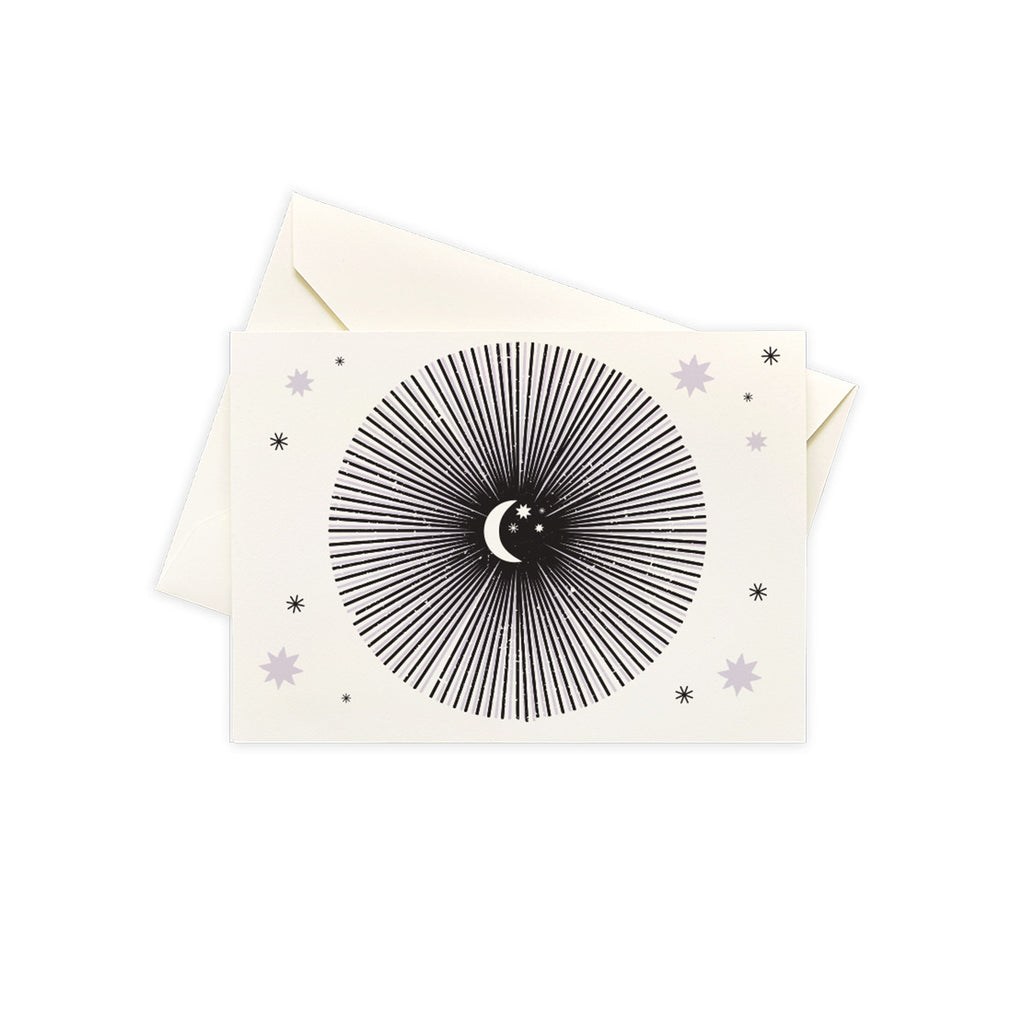 Moon Burst Set Of 10 Stationery Note Cards Box Set - Steel Petal Press