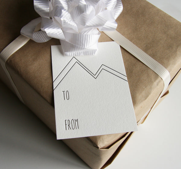 Mountains Gift Tags | Steel Petal Press