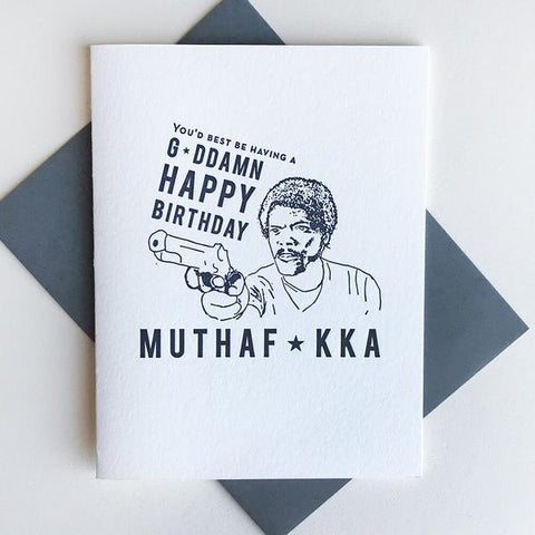 Muthaf*kka Censored Card - Steel Petal Press