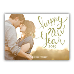 New Year Lettering Photo Card