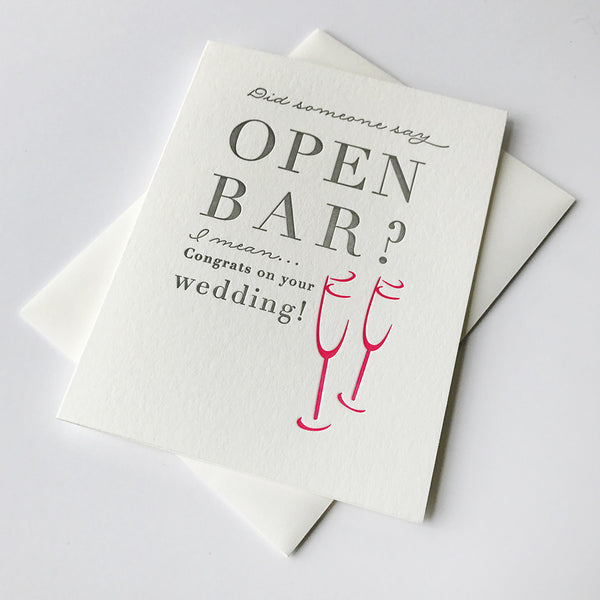 Open Bar | Steel Petal Press