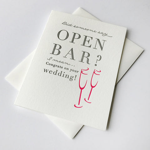 Open Bar - Steel Petal Press