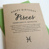 Pisces Astrology Birthday Card