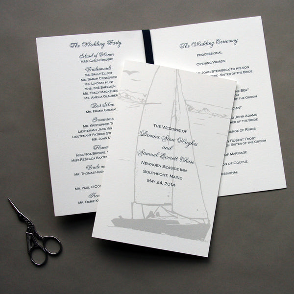 Wedding Programs | Steel Petal Press