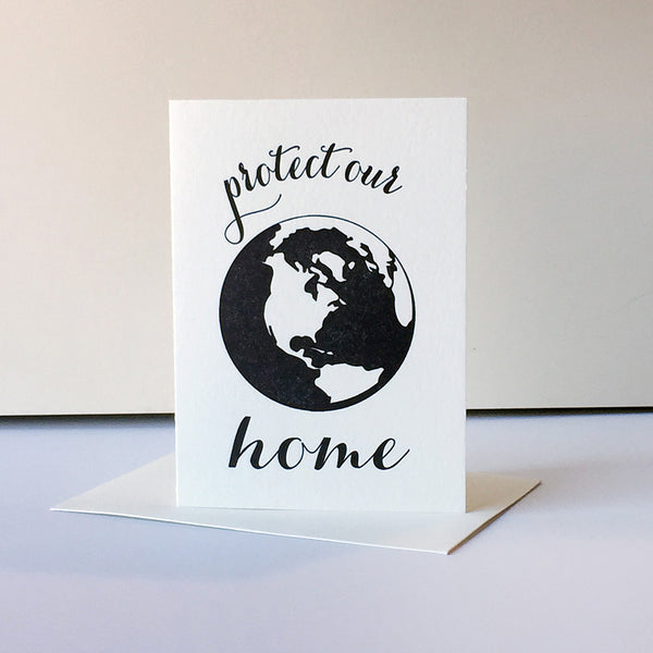 Protest Card - Protect Home - Steel Petal Press