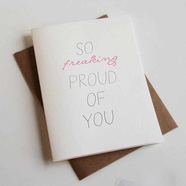 So Proud Card - Steel Petal Press