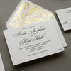 Regal Gold Letterpress Wedding Invitation