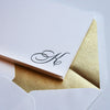 Monogram Letterpress Stationery Set