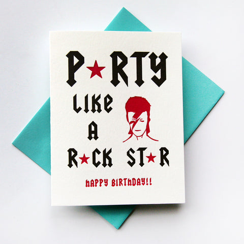 Rock Star card - Steel Petal Press