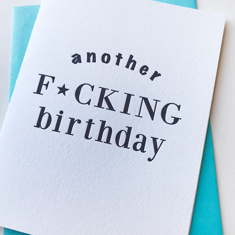F*cking Bday Censored Card - Steel Petal Press