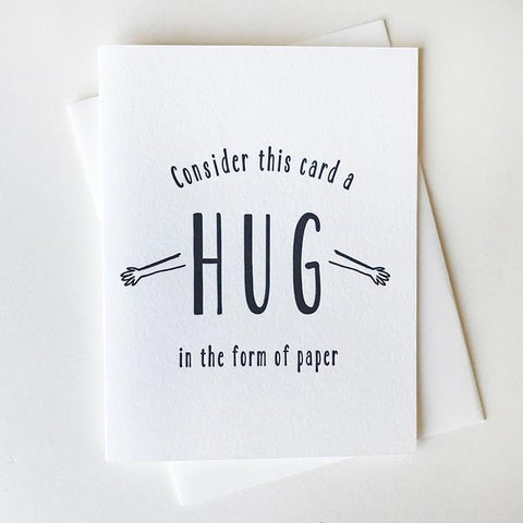 Paper Hug Card - Steel Petal Press
