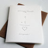 Letterpress Congratulations Wedding Card
