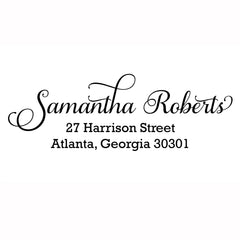 Samantha Custom Address Stamp