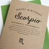 Scorpio Astrology Birthday Card