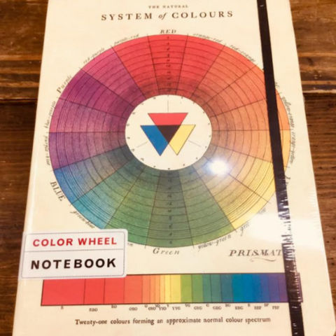 Color Wheel Large Notebook With Elastic Band - Steel Petal Press