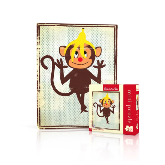 Silly Monkey Mini Puzzle - Steel Petal Press