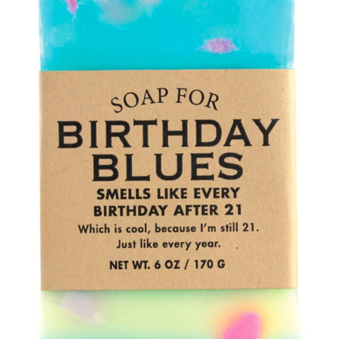 Birthday Blues Soap Bar - Steel Petal Press