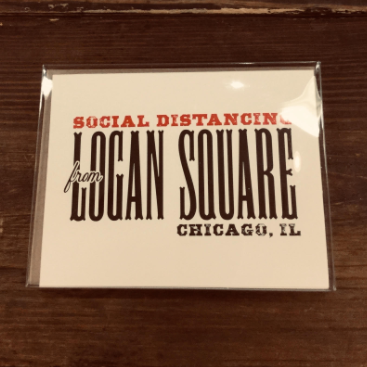 Social Distancing from Logan Square Note Cards Boxed Set - Steel Petal Press