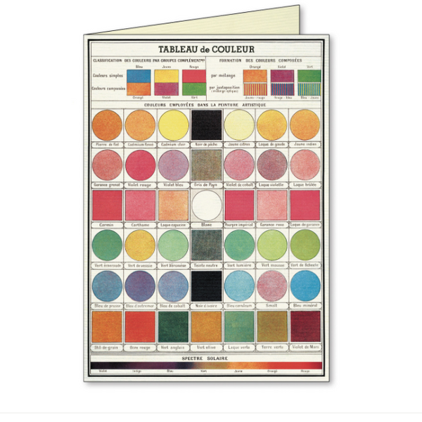 System of Colours Assorted Note Cards Box Set - Steel Petal Press