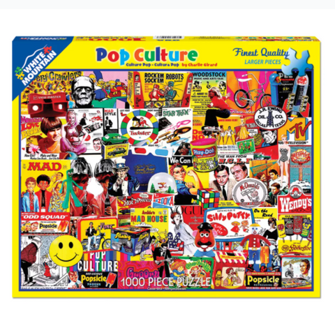 Pop Culture 1000 Piece Puzzle - Steel Petal Press