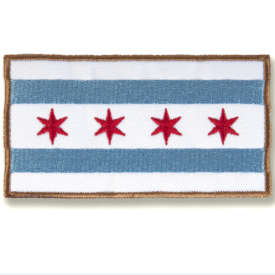 Chicago Flag Patch - Steel Petal Press