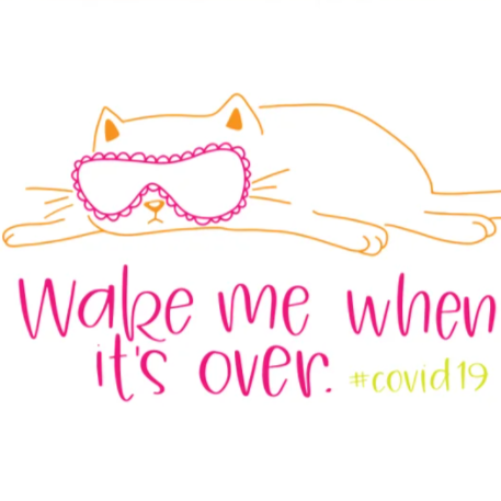 Wake Me When Its Over Covid19 Card - Colette - Steel Petal Press