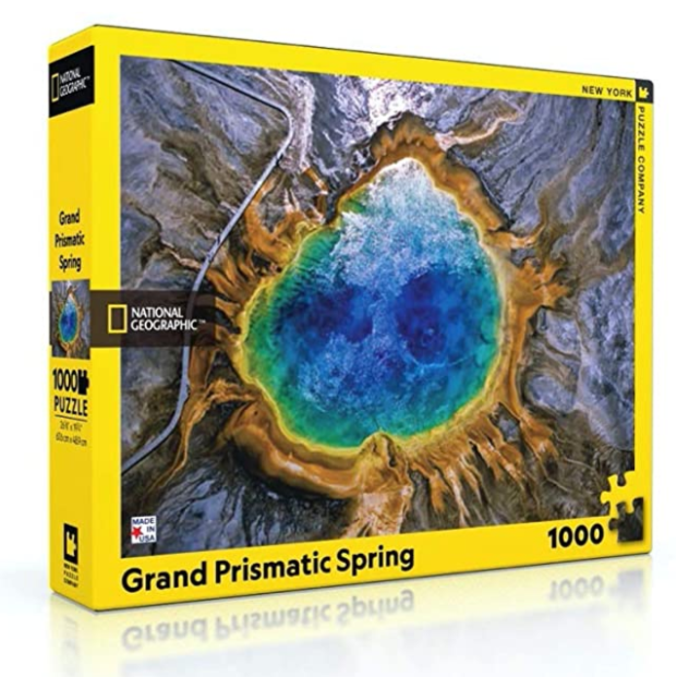Grand Prismatic Spring National Geographic 1000 Piece Puzzle - Steel Petal Press