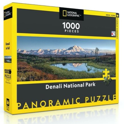 Denali National Park National Geographic Panoramic 1000 Piece Puzzle - Steel Petal Press