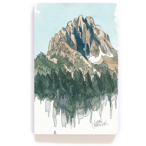 Drawing Mountain Layflat Blank Notebook -  Denik - Steel Petal Press