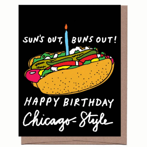 Buns Out Birthday Card - Steel Petal Press