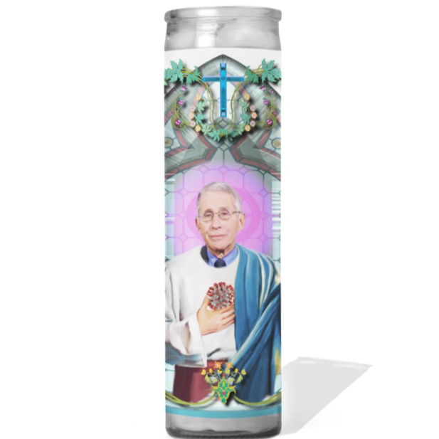 Dr.Anthony Fauci Prayer Candle - Steel Petal Press
