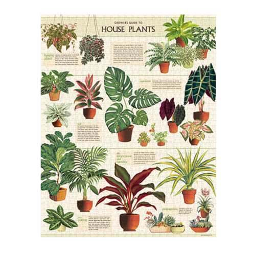 House Plant Vintage 1000 Piece Puzzle - Steel Petal Press